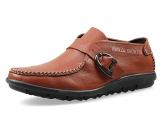 厂家代发批发春季男士皮鞋日常休闲软底英伦头层牛皮单鞋男鞋套牌