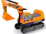供应 大号可坐人仿真模型挖土工程车 儿童惯性玩具车批发 伟盛