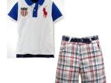 2014童装polo春夏套裝系列 男童短袖休闲套装 POLO同款