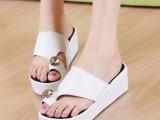 2013夏季新款水钻套指松糕拖鞋厚底鞋坡跟女鞋凉拖鞋休闲沙滩拖