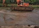 水陆两用挖掘机出租 改装水上挖掘机 租赁水陆挖掘机