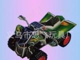供应泡沫纸质回力沙滩摩托车3d立体拼图模