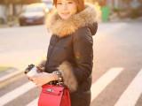 2015春季新款普通款女式韩版羽绒服 女式修身型毛领羽绒服热卖