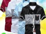 2014男士精品服装厂家休闲男装衬衣 男 小米旗口袋短袖衬衫批发