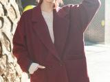 韩国代购ulzzang超可人小清新毛呢外套西装女呢子大衣外套