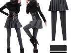 2012秋冬新款 韩版打底裤 裙裤 假两件裤裙 加厚打底裤 靴裤女