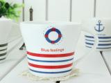 恒德陶瓷 创意陶瓷杯/zakka星巴克/咖啡杯英伦风条纹小杯02