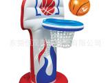 厂家供应 PVC充气篮球架 水上充气篮球