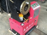 液压钢管压管机 脚手架钢管缩头机厂家 全新大棚管扣压机 价格