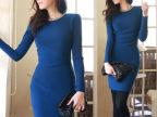2014新款 韩国代购女装新款包臀OL气质修身领钻连衣裙 一件代发