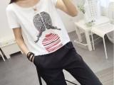 韩版时尚女装可选款白T短袖厂家清