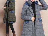 2014冬季新款韩版女装宽松显瘦加厚A字型羽绒服中长款羽绒衣外套