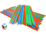 游戏棒塑料100支配骰子 撒挑棍数数80后经典桌面游戏多人玩具