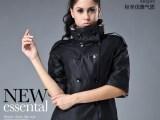 巴布瑞2013秋装新款 欧美高端大牌女装双排扣七分袖修身短款外套