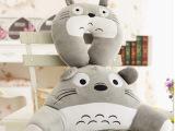 特价卡通龙猫u型枕头卡通腰靠垫 办公室沙发坐垫一件代发