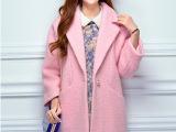 2014毛呢外套秋冬新款羊毛呢子大衣中长款修身韩版小香风女装秋季