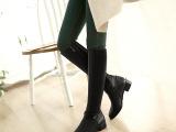 正品女靴2014秋冬新款真皮女士大码长筒靴中高跟粗跟加绒骑士靴