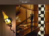 中国灯饰交易网 创意酒瓶壁灯