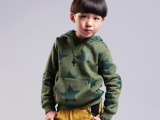 小爸爸爱制造男童同款2014潮童加厚 儿童卫衣抓绒套头衫 一件代