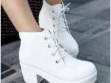 2014春秋欧美明星同款高跟厚底单靴粗跟复古女鞋短靴马丁靴批发