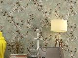 高档美式藤花纯纸壁纸 卧室客厅沙发电视背