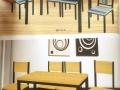 转出售饭店食堂大转盘桌子纯木头椅子厨房用具统一处理