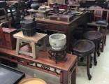 上海徐匯區老桌子回收 上海老紅木茶幾回收 老柚木家具收購