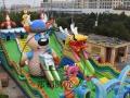 徐州儿童充气蹦蹦床 充气滑梯 充气气床厂家直销水上乐园
