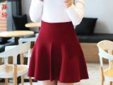 2015秋冬新款女装大摆半身裙外穿大码高腰打底百褶短裙子批发