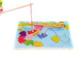儿童木制磁性小猫钓鱼玩具套装宝宝益智拼图1-3岁亲子互动玩具