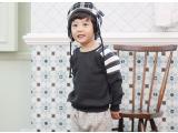 2015冬装新款潮范男童加绒套头上衣卫衣 韩版儿童加厚卫衣批发