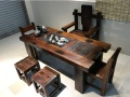 船木乌晶石茶台长方形茶台五件套厂家直销