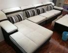 准备退房便宜出套奶白色可拆洗布艺沙发