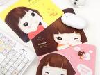 可爱饼干女孩鼠防滑鼠标垫 卡通隔热垫