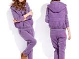 2013新款韩版加绒套装女休闲套装 卫衣三件套382