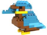 loz小颗粒迷你钻石积木 拼装插儿童益智力创意玩具9286啄木鸟
