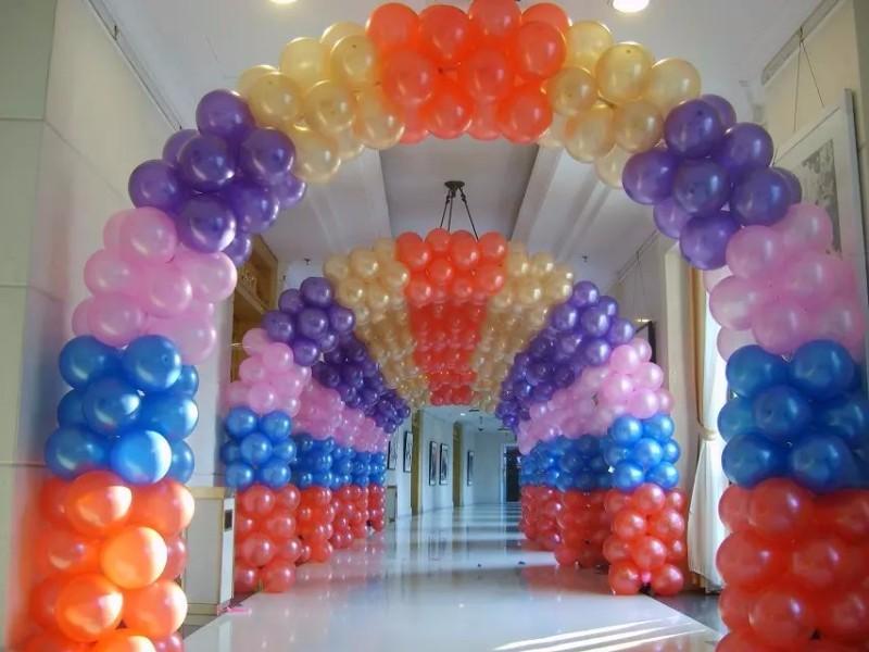 北京氢气球氦气球装饰气球拱门租赁