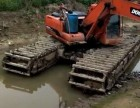 湘潭韶山沼泽地清於挖掘机出租公司
