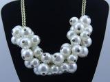 欧美饰品 新款项饰欧美大牌明星复古镶珍珠女式项链 欧美夸张饰品