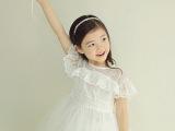 外贸夏款童裙 韩版新款女童裙 夏季蕾丝女童连衣裙 同步批发