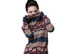 淘货源秋冬女式羊毛衫批发 堆堆领修身提花套头针织衫毛衣女