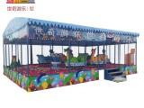 湖南室內兒童樂園歡樂噴球車 游樂設備小火車噴球車回本快