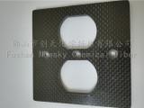 供应碳纤维插座高档欧式美式电源墙壁插座开