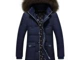 冬季新款加绒加厚中老年男中年男装棉服冬装
