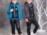 童装女童秋冬装2014新款男童套装儿童卫衣加厚中大童运动三件套