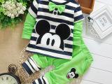 2015春季新款品牌童装 韩版纯棉两件套儿童裤套装 卡通男童套装