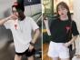 便宜夏季衣服批发韩版便宜时尚短袖T恤批发阿里巴巴夏装批发