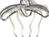 厂家批发流行美款式施华洛水晶高档饰品奥钻发梳MN678