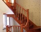 实木别墅方形大立柱 上海楼梯厂家 中式木质楼梯家具定制