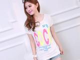 2014新款韩版潮流大码长款蝙蝠打底衫 宽松长款短袖t恤女打底衫